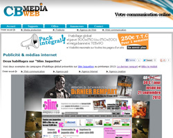 Publicit� et communication web : CB Media web